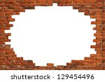 White Hole In Old Wall  Brick...