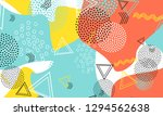 pop art color background.... | Shutterstock .eps vector #1294562638
