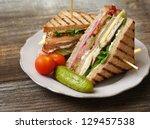 Photo Of A Club Sandwich Made...