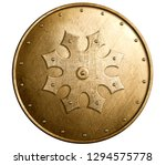 large bronze metal shield... | Shutterstock . vector #1294575778