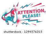 attention please   sign with... | Shutterstock .eps vector #1294576315