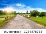 beautiful landscape of asphalt... | Shutterstock . vector #1294578388