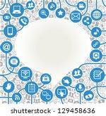 vector background speech bubble ... | Shutterstock .eps vector #129458636