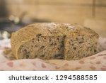 sliced homemade brown bread... | Shutterstock . vector #1294588585