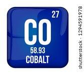 cobalt symbol.chemical element...   Shutterstock .eps vector #1294591978