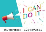 i can do it | Shutterstock .eps vector #1294593682