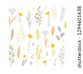 vector elegant cute flower big... | Shutterstock .eps vector #1294601638