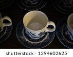 english tea cups on wooden... | Shutterstock . vector #1294602625