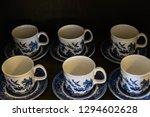 english tea cups on wooden... | Shutterstock . vector #1294602628