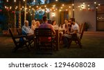 sitting at the dinner table... | Shutterstock . vector #1294608028