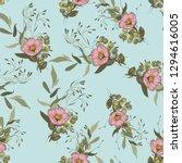 freehand flowers seamless... | Shutterstock .eps vector #1294616005