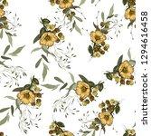 folk flowers. seamless floral... | Shutterstock .eps vector #1294616458
