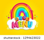 color cartoon kids inscription... | Shutterstock .eps vector #1294623022