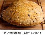 delicious fresh bread on wooden ... | Shutterstock . vector #1294624645