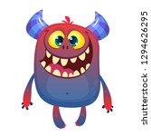 cartoon furry monster.... | Shutterstock .eps vector #1294626295