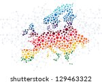 europe abstract background with ... | Shutterstock .eps vector #129463322