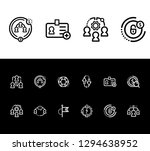 human resource icon set and... | Shutterstock .eps vector #1294638952