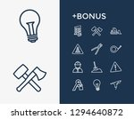 industry icon set and key with...