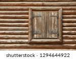 wooden window with shutters. a... | Shutterstock . vector #1294644922
