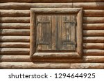 wooden window with shutters. a... | Shutterstock . vector #1294644925