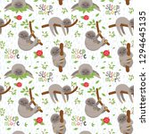seamless pattern with cute... | Shutterstock .eps vector #1294645135