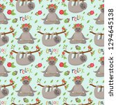 seamless pattern with cute... | Shutterstock .eps vector #1294645138