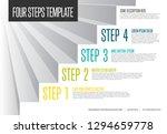 vecotr infogrpahic steps... | Shutterstock .eps vector #1294659778