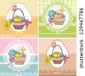 Set Easter Vintage Cards With...