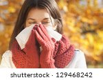 Women With Tissue Having Flu O...