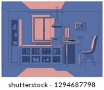 vector 3d illustration   living ... | Shutterstock .eps vector #1294687798