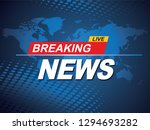 breaking news with world map... | Shutterstock .eps vector #1294693282