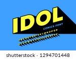comics style font design ... | Shutterstock .eps vector #1294701448