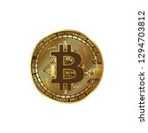 Natural Gold Bitcoin On A Whit...
