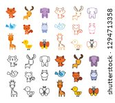 animals character icon design | Shutterstock .eps vector #1294713358