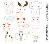 animals worksheet vector design   Shutterstock .eps vector #1294713388