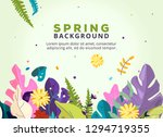 spring floral illustration... | Shutterstock .eps vector #1294719355