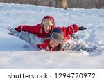 two smiling boys with funny... | Shutterstock . vector #1294720972