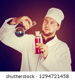 young bearded scientist in... | Shutterstock . vector #1294721458