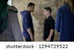 teenage conflict  two boys...   Shutterstock . vector #1294729522