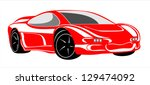car for sports design. | Shutterstock . vector #129474092