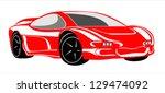 car for sports design. | Shutterstock . vector #129474092