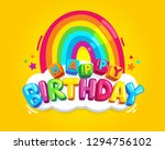 happy birthday kids colorful... | Shutterstock .eps vector #1294756102