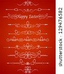 calligraphic elements vintage...   Shutterstock . vector #129476582