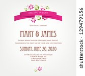 wedding invitation card with...   Shutterstock .eps vector #129479156