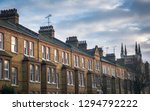 a row of british brick terraced ... | Shutterstock . vector #1294792222