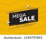 sale banner template design for ... | Shutterstock .eps vector #1294797895