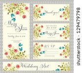 wedding invitation  thank you... | Shutterstock .eps vector #129479798