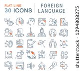 set of vector line icons of... | Shutterstock .eps vector #1294808275