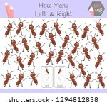 educational game of counting... | Shutterstock .eps vector #1294812838
