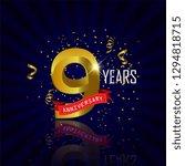 9 years anniversary vector... | Shutterstock .eps vector #1294818715